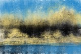 Abstract painterly landscape, imaginative blurred soft focus natural organic forms in hand painted artwork - 230550251
