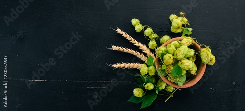 Fotografie, Obraz  Hops and wheat
