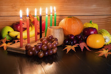 Kwanzaa Holiday Concept With D...
