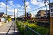 名鉄電車(パノラマsuper)が走っている風景