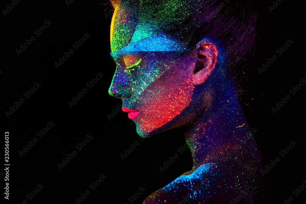 Fototapeta Close up UV abstract portrait