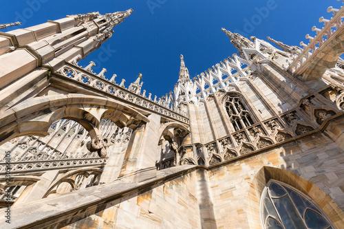 Poster Monument Milan Cathedral (Duomo di Milano), gothic church, Milan, Italy.