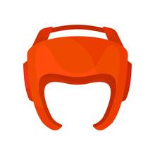 Red Helmet For Boxer. Boxing P...