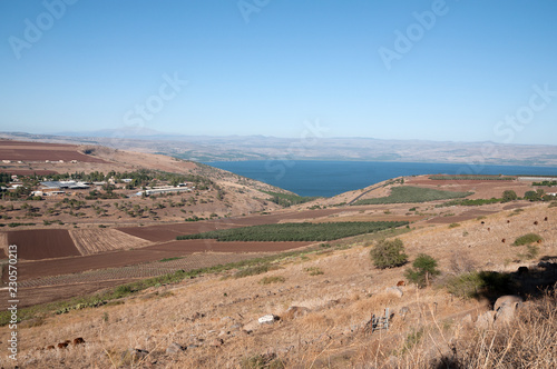 Foto op Canvas Zalm The Sea of Galilee and Beit Netofa Valley