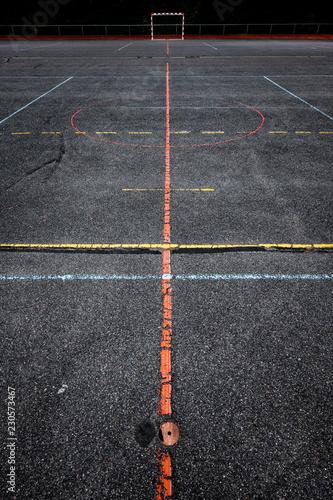 Fotografie, Obraz  terrain sport stade banlieue équipement hand ball ligne trace limite sportif ent