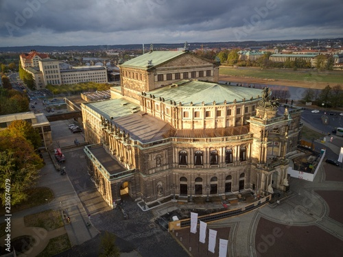 Foto op Canvas Theater Semper Oper, Dresden