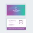 Modern business card template gradient purple green
