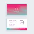 Modern business card template pink gradient