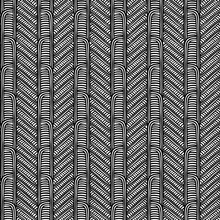 Maori Tribal Pattern Vector Seamless. African Fabric Print. Ethnic Polynesian Aboriginal Art. Peruvian Black White Background For Textile Blanket, Wallpaper, Wrapping Paper And Backdrop Template.