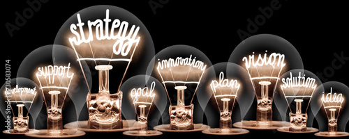 Fotografie, Obraz  Light Bulbs Concept