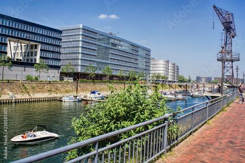 Tuinposter Poort Duisburg, Innenhafen