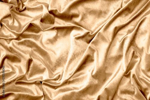 Fotobehang Stof Golden shiny silk fabric texture