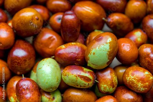 Fotografie, Obraz  Ripe broun jujube chinese dates, close up