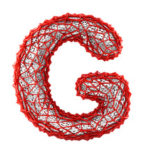 Red Plastic Letter G With Abst...
