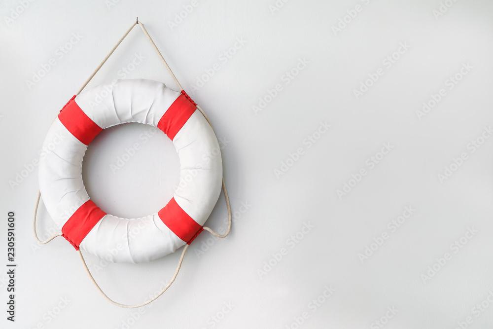 Fototapety, obrazy: safety torus with white background.