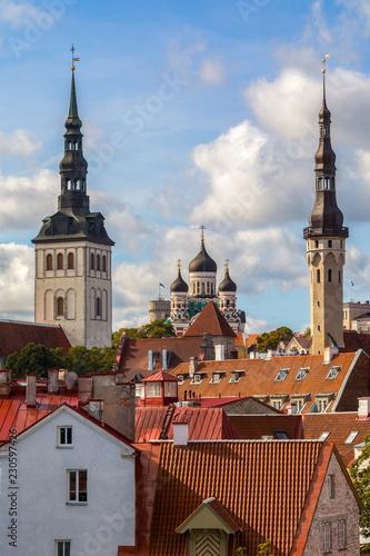 Photo  Skyline of Tallinn in Estonia