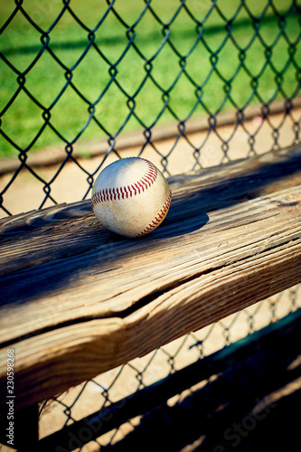 Prime Baseball On A Wooden Dugout Bench Buy This Stock Photo And Ocoug Best Dining Table And Chair Ideas Images Ocougorg