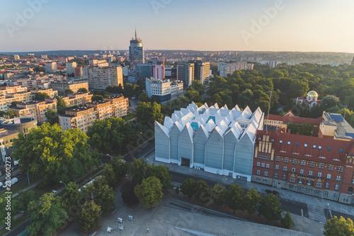 Obraz Widok z lotu ptaka Filharmonii w Szczecinie - fototapety do salonu