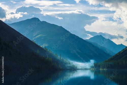 gorskie-jezioro-wczesnym-porankiem-z-majestatycznymi-sylwetkami-wysokich-gor-w-tle
