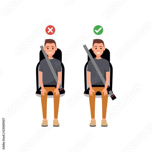 how to wear seatbelt correctly Fototapet