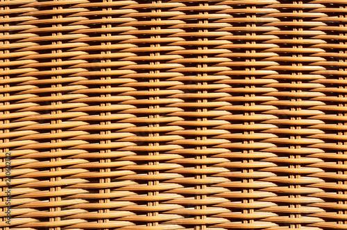 Obraz Closeup of wicker basket or rattan chair texture - fototapety do salonu