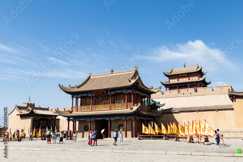 Photographie The entry gate of Jiayuguan Fort, Gansu province, China