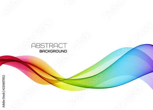 Obraz Abstract colorful vector background, color flow wave for design brochure, website, flyer. - fototapety do salonu