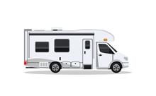 Camper Van For Travel Flat Illustration