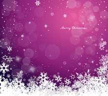 Christmas Purple Vector Backgr...