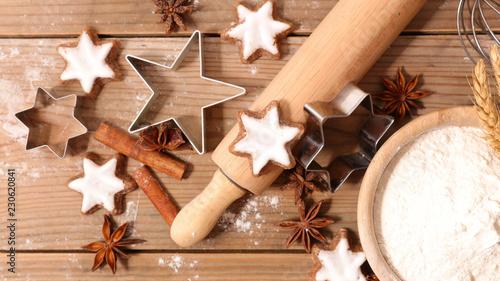baking christmas cookie