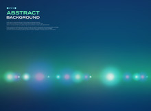 Abstract Of Spectrum Glowing Stipe Line Pattern On Green Blue Background.