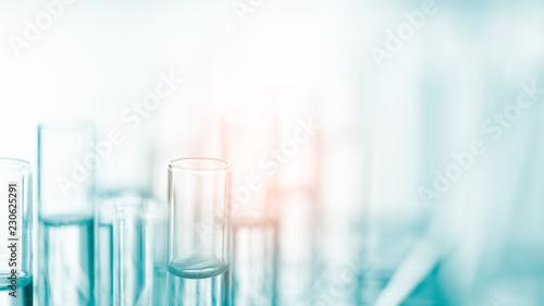 Carta da parati  Laboratory glassware containing chemical liquid, science research,science backgr