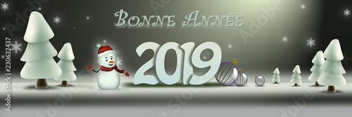 bonne année 2019 Wallpaper Mural