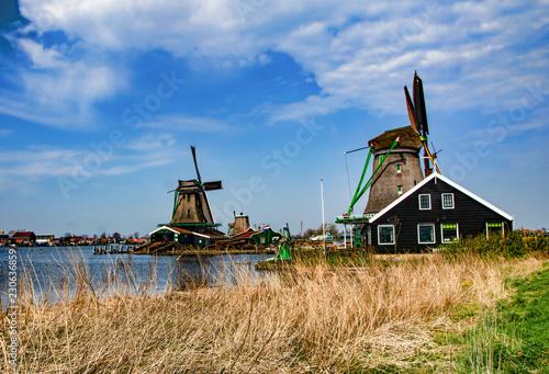 Poster Molens windmills in holland