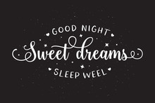Sweet Dreams Good Night Typogr...
