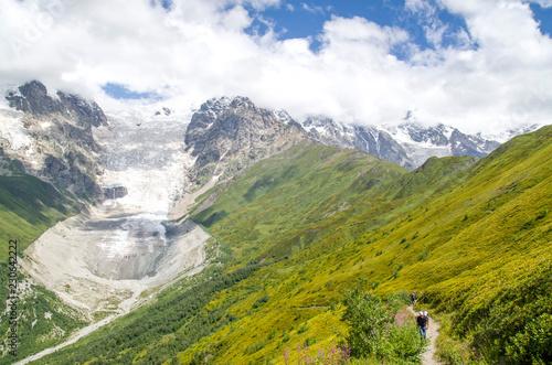 Fotobehang Alpen Beautiful view of glacier Adishi , Georgia