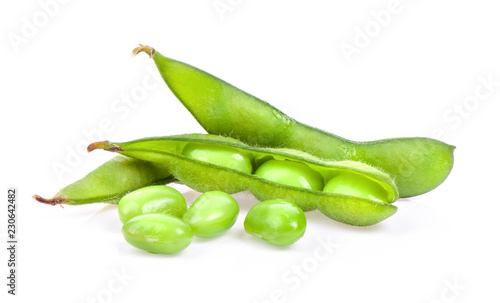 edamame green beans isolated on white background