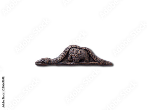 Photo Bronze Souvenir Boa Constrictor digesting an Elephant from The Little Prince nov