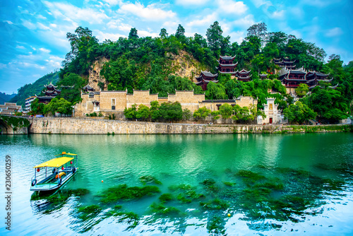 Beautiful scenery of the ancient city of Zhenyuan..