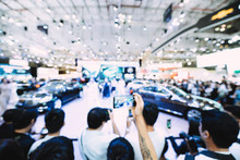 Royalty High Quality Free Stock Photo Of Abstract Blur And Defocused Car And Motor Exhibition Show Event With Copy Space For Text Or Advertising Or Background