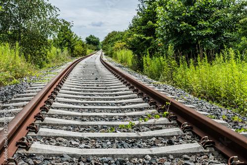 Gleisanlage im Sommer