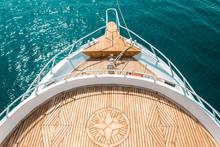 Luxury Yacht, Stern Interior, Comfortable Design For Rest Leisure Tourism Travel