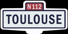 TOULOUSE - Ancien Panneau Entr...