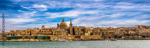 Panorama skyline Valletta Malta Fototapete