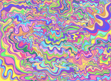 Decorative Psychedelic  Waves,...