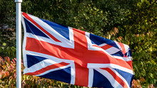 View Of The British Flag Flyin...