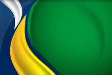 Brazil Flag Background Concept For Independence, National Day And Other Events, Vector Illustration