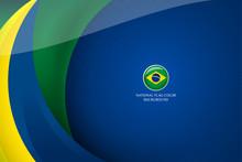 Brazil Flag Background Concept...