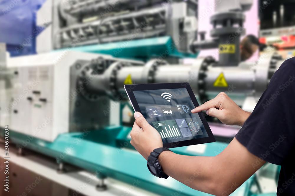 Fotografie, Obraz Smart industry control concept