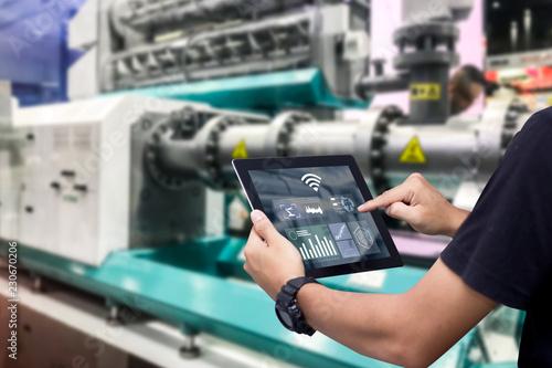 Fototapeta Smart industry control concept